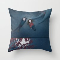 constellations Throw Pillows featuring Constellations by Ramona Treffers