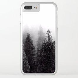 Silent Forest Dark Clear iPhone Case