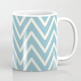 Chevron Wave Blue Petit Four and Glass Green Coffee Mug