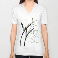 grass V-neck T-shirts featuring Grass by DistinctyDesign