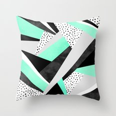 Crazy Fun Turquoise Throw Pillow