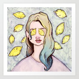 Lemon Eyes Art Print