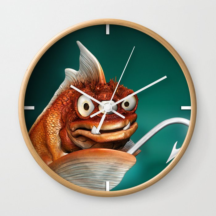 Evil Fish Wall Clock