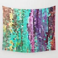 broken Wall Tapestries featuring Morning has broken by Catherine Holcombe