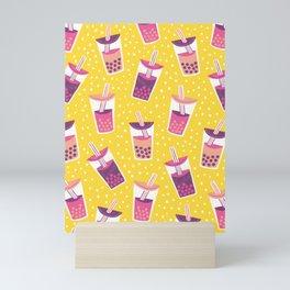 Bubble Tea Boba Pattern Mini Art Print