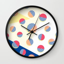Japanese Patterns 01 Wall Clock