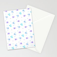 Watercolor Floral Print (blue + violet) Stationery Cards