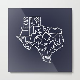 Texas Strong (Dark Blue) Metal Print