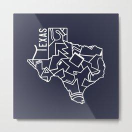 Texas Strong (Dark Blue) Metal Print