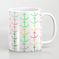 anchors Mugs featuring Anchors by Maressa Andrioli