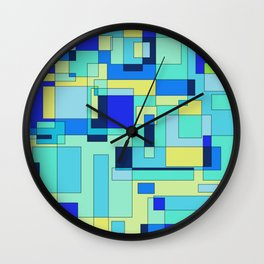 Digital geometric design 3 Wall Clock