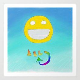 Happiness All Around Art Print