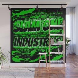 Slam 1 Industries Green Fire Wall Mural