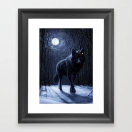 Encounter in the night Framed Art Print