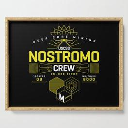 Deep Mining Crew / Nostromo / Alien / Science Fiction / Horror / Typography Serving Tray