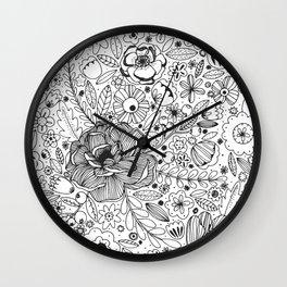 Flowers Flowers Wall Clock