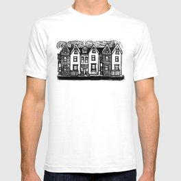 Row Houses - Linocut T-shirt