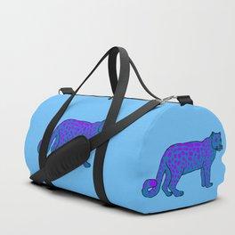 The curious snow leopard Duffle Bag
