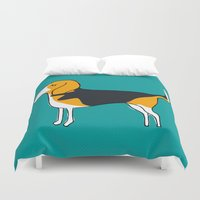beagle Duvet Covers featuring Beagle by MaJoBV