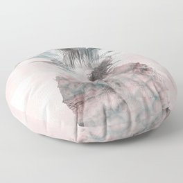 Pink Tropical Beachy Pineapple Floor Pillow