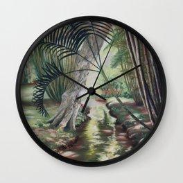 Quelque part au Jardin de Pamplemousse Wall Clock