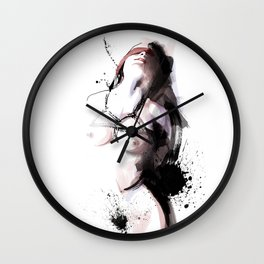 Shibari - Japanese BDSM Art Painting #3 Wall Clock