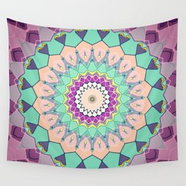 Colorful Symmetrical Abstract Wall Tapestry