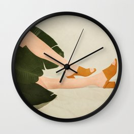Between the Leaves Wall Clock