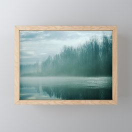 Blue River Mist Framed Mini Art Print