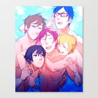 iwatobi Canvas Prints featuring Make Us Free by Blue