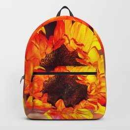 Close-up of a Bright Orange and Yellow Sunflower Backpack