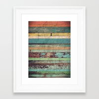 wooden Framed Art Prints featuring Wooden Vintage  by Patterns and Textures