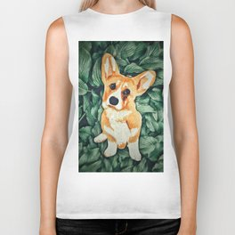 Mia the Corgi Biker Tank