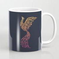 phoenix Mugs featuring Phoenix by Freeminds