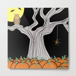 On A Very  Scary #Halloween Night Metal Print