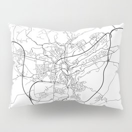 Minimal City Maps - Map Of Luxembourg City, Luxembourg. Pillow Sham