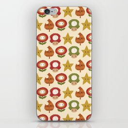 mario items pattern iPhone Skin