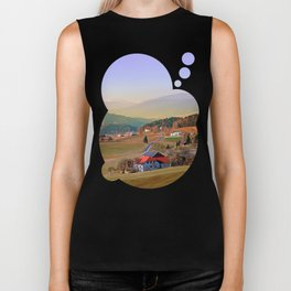 Country road in amazing panorama | landscape photography Biker Tank
