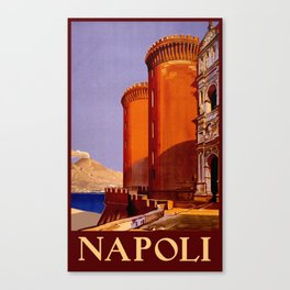 Napoli - Naples Italy Vintage Travel Canvas Print
