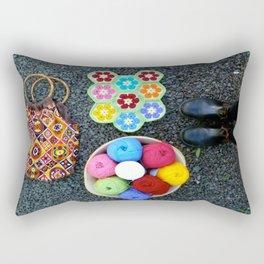 A good yarn Rectangular Pillow