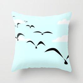 The Birds Throw Pillow