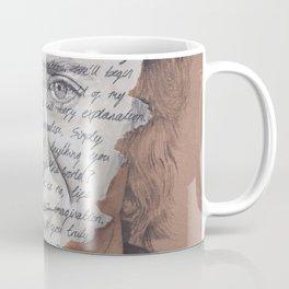 Willy Wonka Portrait with Pure Imagination Lyrics Coffee Mug