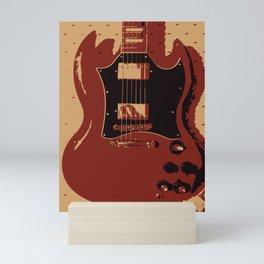Red Electric Guitar Mini Art Print