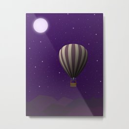 TRAVEL TO THE MOON Metal Print