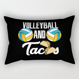 Volleyball And Tacos Fast Food Sports Gift Rectangular Pillow