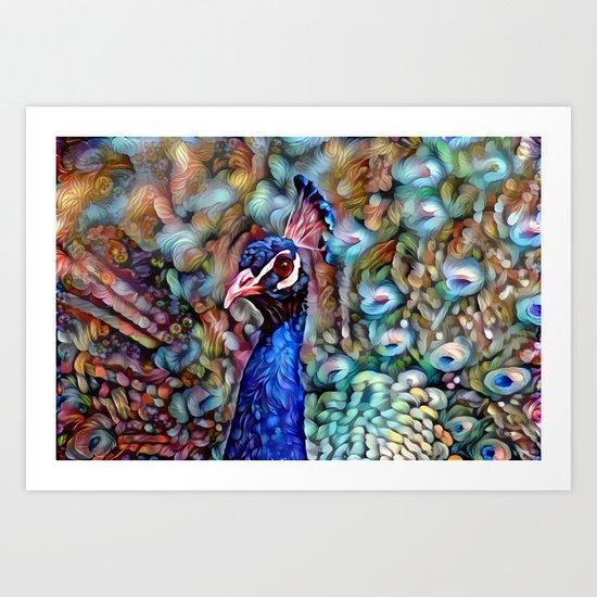 Petaled Peacock Art Print