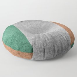 Irish Flag Grunge Floor Pillow