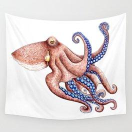 Blue octopus Wall Tapestry
