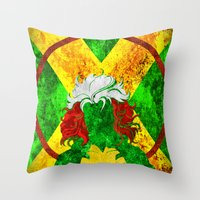 rogue Throw Pillows featuring Rogue by Some_Designs