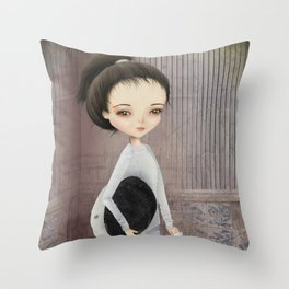 The fencer Throw Pillow